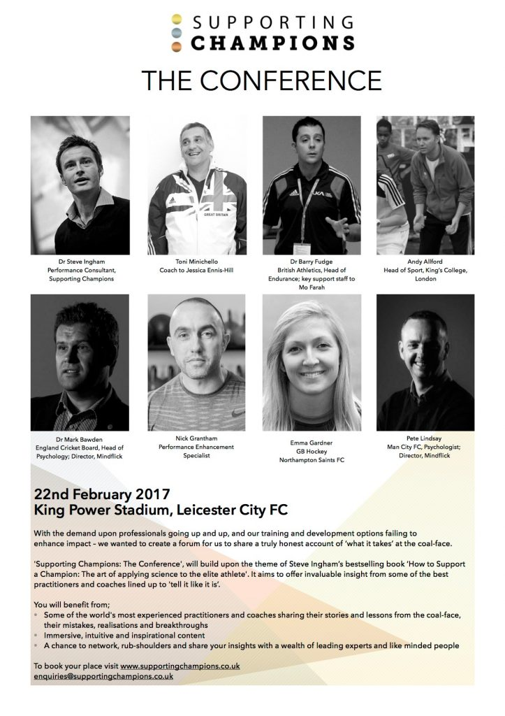 ***Supporting Champions: The Conference***